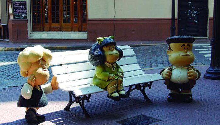 """""""Paseo de la historieta"""": conocé todos los personajes de este divertido paseo de San Telmo a Puerto Madero"""