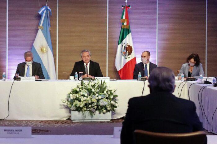 Fernández se reunió con empresarios mexicanos que tienen inversiones en la Argentina