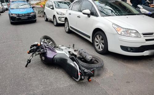 Detuvieron a dos motochorros en Palermo