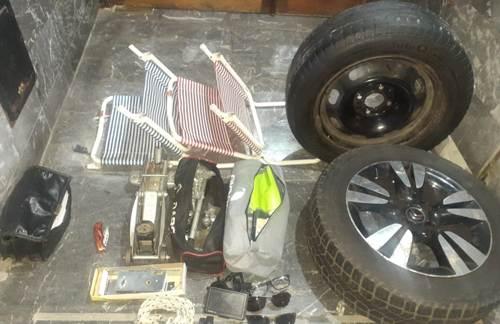 Dos roba ruedas detenidos en Caballito