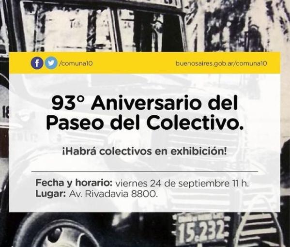 Día del colectivero: se realiza un evento organizado por Paseo del Colectivo