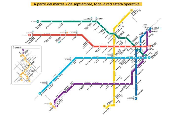 Subte: reabrieron hoy diez estaciones y la red quedó completamente operativa
